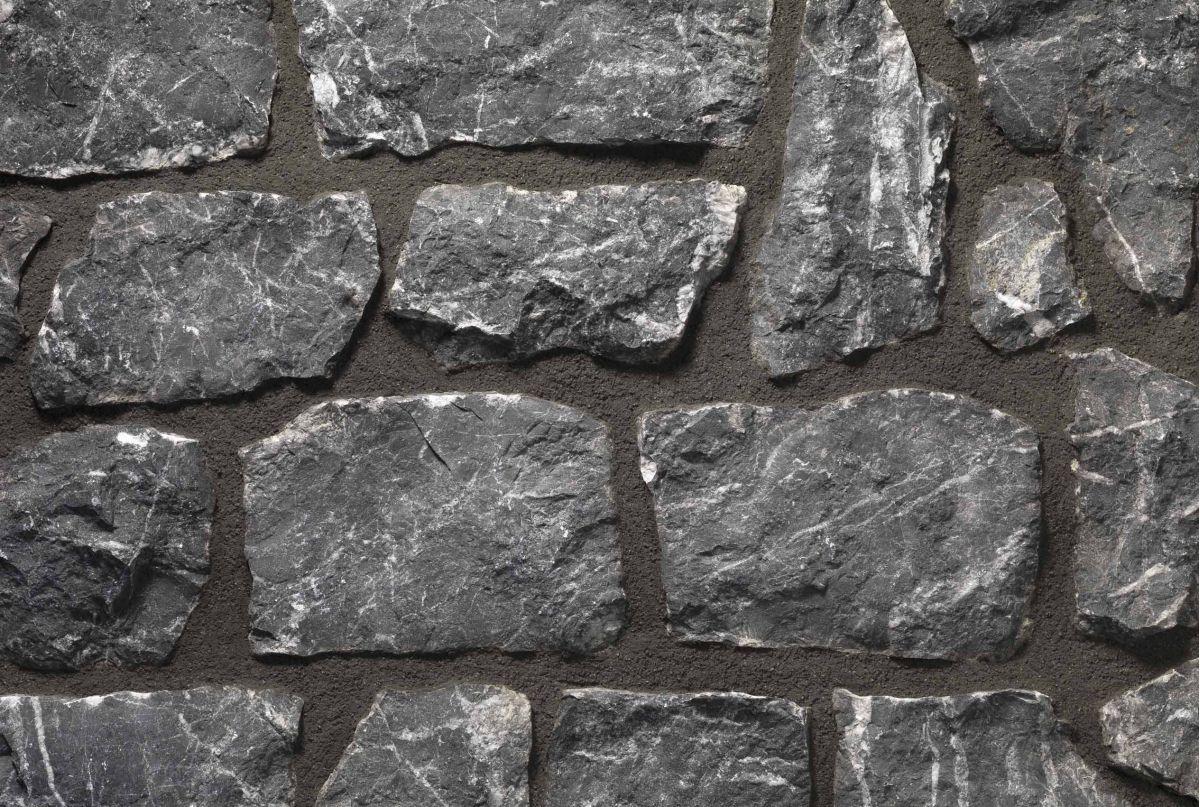 Parete interna in pietra grigio carnico - Parete interna in pietra ...